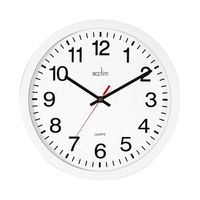View more details about Acctim Controller White Silent Wall Clock - 93/704