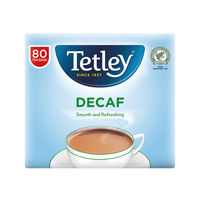 View more details about Tetley Decaffeinated Tea Bag (Pack of 80)