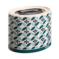 Kleenex Ovals Pack of 10 White Facial Tissues - 8826