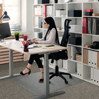View more details about Floortex Rectangular Chair Mat Carpet 1200x900x2.3mm Polycarbonate 118923ER