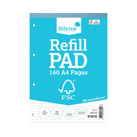 View more details about Silvine A4 Everyday FSC Notebook Refill Pads - Pack of 5 - FSCRP80