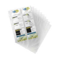 View more details about Durable Visifix Business Card Pockets Refill A4 Transparent (Pack of 10) 2389