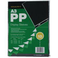 Goldline A3 Polypropylene Display Sleeves, Pack of 10 - PDSA3Z
