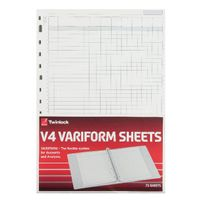 Rexel Twinlock Variform V4 Refills, 7 Cash Columns (Pack of 75) - 75933