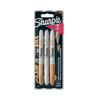 View more details about Sharpie Metallic Fine Permanent Marker Pens (Pack of 3) 1849114