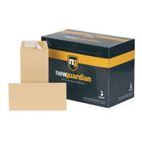 New Guardian Manilla Peel and Seal DL Envelopes 130gsm (Pack of 500) - E26503