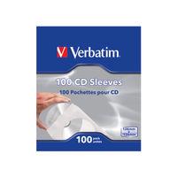 Verbatim CD Sleeves, Pack of 100 - 49976