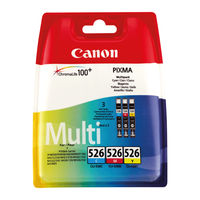 View more details about Canon CLI-526 Colour (C,M,Y) Ink Cartridge Multipack - 4541B009