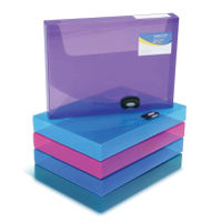 Rapesco Assorted Rigid Wallet Box Files 40mm - Pack of 5 - 1048