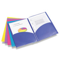 Rapesco Bright Assorted A4 Twin Pocket ID File - Pack of 5 - HT00155