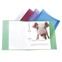 10 x Rapesco Eco 25mm A4 Ring Binders in Assorted Colours - 1044
