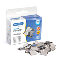 View more details about Rapesco Supaclip 60 Stainless Steel Refills, Pack of 100 - CP10060S