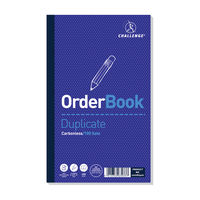 Challenge Carbonless Duplicate Order Book, 100 Slips (Pack of 5) - A63033