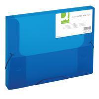 Q-Connect Blue Elasticated Box File - KF02307