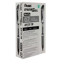 12 x Pentel Black Energel XM Gel Pens - 46643
