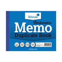 View more details about Silvine Carbonless Memo Duplicate Book, 100 Pages (Pack of 12) - 703T