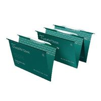 Rexel Crystalfile Classic Green Foolscap Suspension Files 15mm - Pk50 - 78046