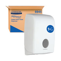 View more details about Aquarius Folded Hand Towel Dispenser White 6945