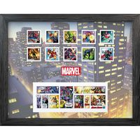 The Marvel Framed Stamps and Miniature Sheet - N3156