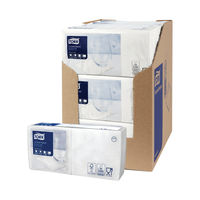 View more details about Tork Cocktail Napkins 2-Ply White (Pack of 200) 477534