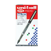 View more details about uni-ball Eye Micro Rollerball Black Pens, Pack of 12 - 162545000