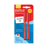 View more details about Berol Black Handwriting Pen Blister Cards, Pack of 24 - S0672930