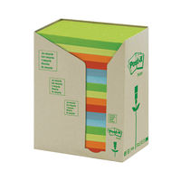 View more details about Post-it 76 x 127mm Pastel Rainbow Recycled Notes, Pack of 16 | 655-1RPT