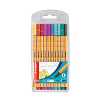 View more details about Stabilo Point 88 Assorted Fineliners Pens, Pack of 10 - F5D7633UK4A