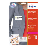 Avery White 80 x 50mm Self-Adhesive Name Badges, Pack of 200 - L4785-20