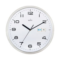 View more details about Acctim Supervisor Chrome and White Wall Clock - 21027