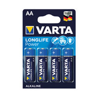 View more details about VARTA High Energy Alkaline AA Batteries, Pack of 4 - 4906620414