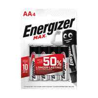 View more details about Energizer MAX AA Batteries, Pack of 4 - E300112500