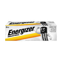 View more details about Energizer Industrial D Batteries, Pack of 12 - 636108