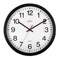 View more details about Acctim Controller Silent Sweep Wall Clock 368mm Black 93/704B