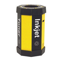 View more details about Acorn Cartridge Recycling Bin 60 Litre Black/Yellow (Pack of 5) 059783