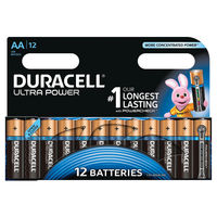 View more details about Duracell AA Ultra Power Batteries, Pack of 12 - 640925