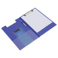 View more details about Rapesco Blue A4/Foolscap PVC Foldover Clipboard - VFDCB0L3
