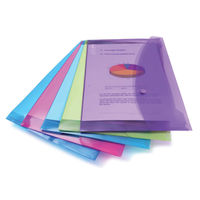Rapesco Foolscap Assorted Bright Popper Wallets - Pack of 5 - HT17015