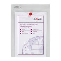Snopake Portrait Clear A5 Polyfile Wallet - Pack of 5 - 13280