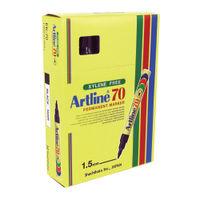 Artline 70 Black Permanent Markers, Pack of 12