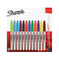 Sharpie Fine Assorted Bullet Tip Permanent Marker Pens, Pack of 12 - S0811070