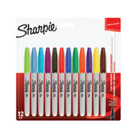 Sharpie Fine Assorted Bullet Tip Permanent Marker Pens, Pack of 12 - S0811070