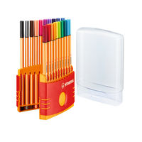 Stabilo Point 88 Assorted Fineliners, Pack of 20 - 8820-03
