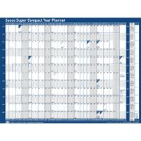Sasco Super Compact Unmounted 2019 Wall Planner - 2401932