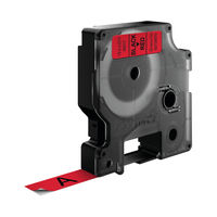 View more details about Dymo D1 Standard Label Tape Black on Red - S0720570