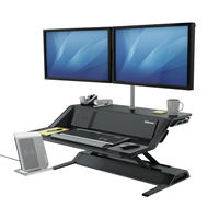 View more details about Fellowes Lotus DX Sit-Stand Workstation Black - 8081001