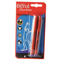 Berol Blue Handwriting Pens, Pack of 2 - S0672920