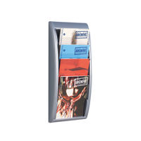 View more details about Fast Paper Quick Fit System Wall Display 4 x A4 Silver 4061.35