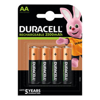 Duracell StayCharged 1300mAh Rechargeable AA Batteries, Pack of 4 - 81367177