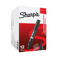 View more details about Sharpie W10 Black Permanent Markers, Pack of 12 - S0192652